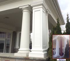 Faux Stone Column Wraps by Cottage Style House Plans Screened Porch