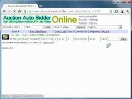 auto bid on ebay auction auto bidder web based ebay sniper demo