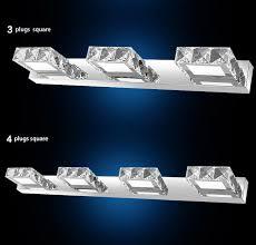 Led Bathroom Sconces Modern K9 Crystal Led Bathroom Make Up Mirror Light Cool White