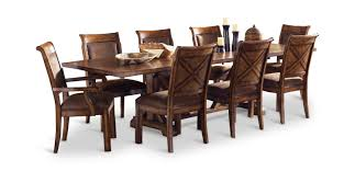 dining room trestle table larkspur trestle table and 4 side chairs hom furniture