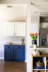 advice for painting kitchen cabinets our diy blue white kitchen cabinets renovations