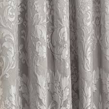 Luxury Grey Curtains Luxury Charleston Jacquard Damask Lined Curtains In Grey