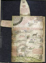 medieval maps of the holy land medieval manuscripts blog