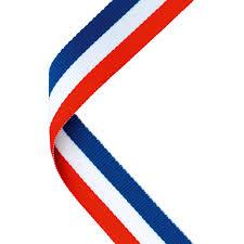 white and blue ribbon white blue medal ribbon trophy