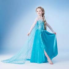 cartoon frozen princess queen elsa party cosplay dress costume