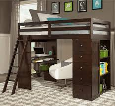 loft bed with closet bedroom alluring twin loft bed with desk and storage kids white