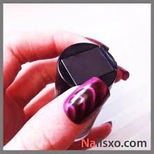 magnetic nail polish tutorial purple sally hansen nailsxo