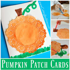 pumpkin patch cards what can we do with paper and glue