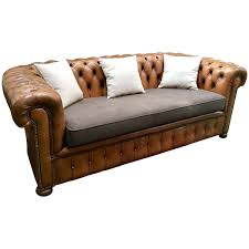 type de canapé canape type chesterfield 1960s chesterfield leather and tissu sofa