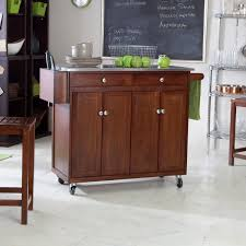 furniture natural wood top portable white kitchen island with