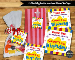 8x the wiggles peel and stick water bottle labels stickers