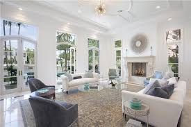 living room boca art deco living room with cement fireplace crown molding in boca on