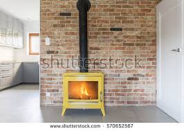 Yellow Fireplace Fireplace Interior Stock Images Royalty Free Images U0026 Vectors