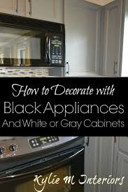 black appliances decorating ideas in a kitchen with gray or white