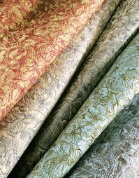 pollack silk brocade with lee jofa linen velvet fringed designer