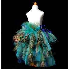 womens peacock feather bustle tutu halloween costume