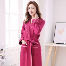 robe de chambre femme coton plus la taille m 3xl automne kimono robes pour femmes coton peignoir