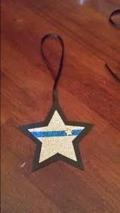 thin blue line ornament ornament enforcement ornament