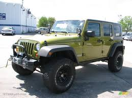 2007 green jeep wrangler 2007 rescue green metallic jeep wrangler unlimited x 4x4 29762508