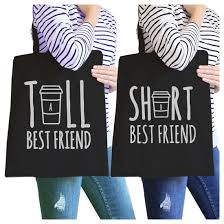 cup bff matching canvas bags gift ideas