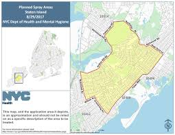Zip Code Nyc Map by Mosquito Spraying Events Schedule