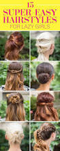Easy Hairstyle For Girls by Top 25 Best Lazy Hairstyles Ideas On Pinterest Lazy Day