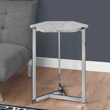 Hexagon Side Table West Elm Hex Side Table Look For Less