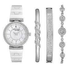 anne klein bracelet set images Anne klein 12 2275svst swarovski crystal accented silver tone jpg