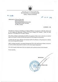 endorsement letters albania oil u0026 gas 2016 summit