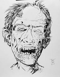 zombie face tattoo sketch photo 2 2017 real photo pictures