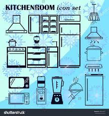 home interior design icon kitchen icon stock vector 498301687