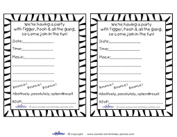 army birthday invitations printable tigger invitations