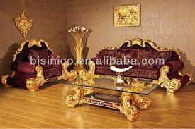 Red Sofa Set by New Item Luxury Hand Carved 24k Gold Plated Gold And Red Sofa Set