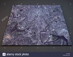 Moscow Map Satellite View Of Moscow Map Russia Stock Photo Royalty Free
