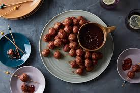 turkey meatballs with cranberry sauce recipe epicurious