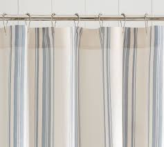 Pottery Barn Kids Shower Curtains Evan Stripe Shower Curtain Pottery Barn