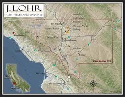 Paso Robles Winery Map J Lohr Vineyards U0026 Wines