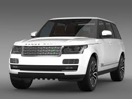 land rover white 2014 3d model range rover autobiography lwb l405 2014