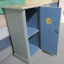 Annie Sloan Duck Egg Blue by Pot Cupboard Marble Topped Saffron Cottage Furniture