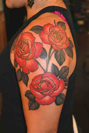 roses upper arm tattoo tattoo shortlist