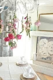 a flower chandelier becky u0027s farmhouse