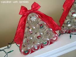 cupcakes with sprinkles baby food jar christmas tree