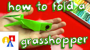 how to fold an origami grasshopper youtube