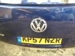 2007 2010 vw touareg 7l rear tailgate bare paint code ld5q