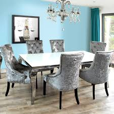Grey Dining Table And Chairs Ideas Of Grey Glass White High Gloss Dining Table And 8 Chairs