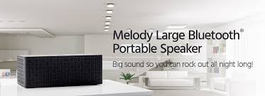 melody large bluetooth portable speaker monoprice com