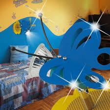 spot chambre enfant papillon projecteur mural ø120mm enfant bleu le luminaire spot