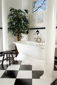 should i have a black and white bathroom mad about the house