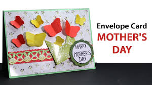 diy mothers day envelope card making diy mother u0027s day gift ideas