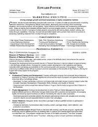 marketing executive resume marketing executive cv toreto co resume exles for fresher manager